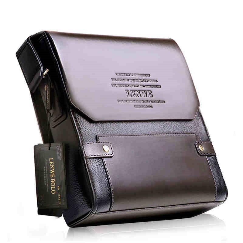 LENWEBOLO Shoulder bag กระเป๋าสะพายไหล่ หนัง PU รุ่นx110-1(สีดำ)
