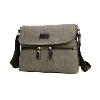 ขายด่วน Lily กระเป๋าสะพายข้าง ผู้ชาย ผ้าแคนวาส รุ่น LC0032 - Green(สีเขียวทหาร)