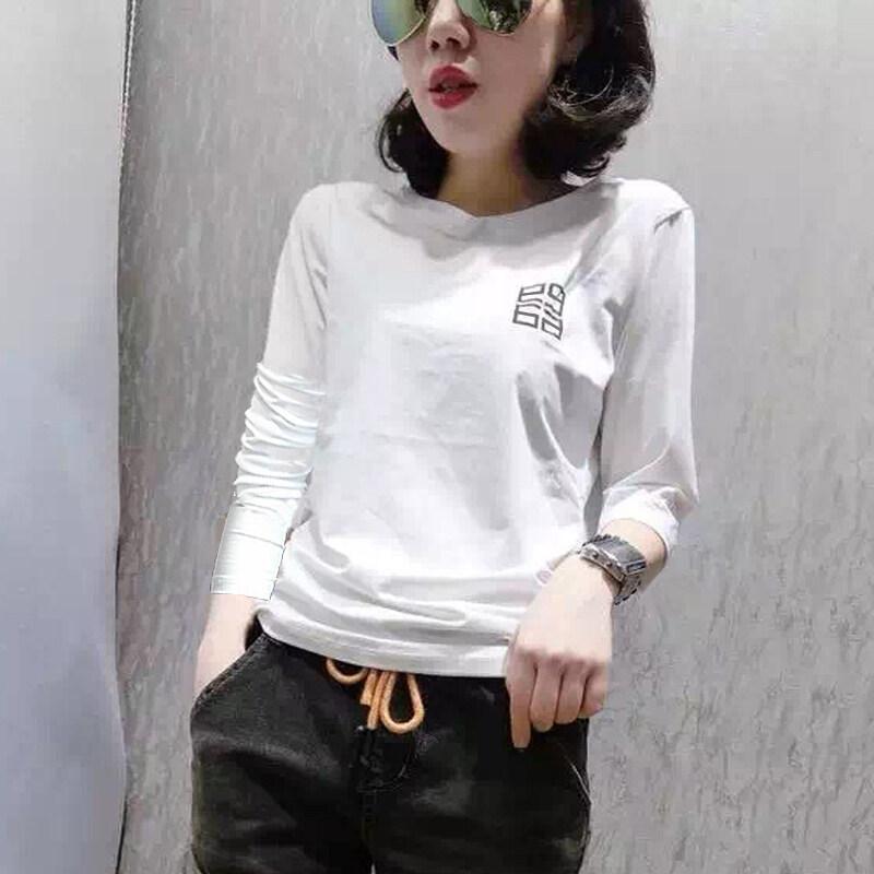 ขาย LOOESN ป่านักศึกษาหญิงท็อปส์ซูเสื้อยืด (สีขาว)