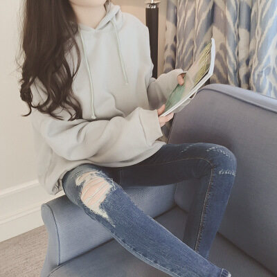 LOOESN เกาหลีบวกกำมะหยี่คลุมด้วยผ้าเสื้อหนาเสื้อกันหนาวเบสบอลเครื่องแบบ (สีเทาอ่อน)