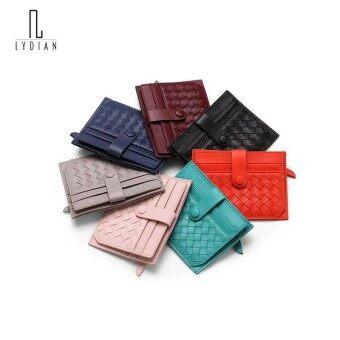 Lydian 2018 Super soft Handmade Short Wallets Summer Woven Wallets Womens Nice Cowhide Mini Coin Slim Purse Retro pink Card Bag - intl