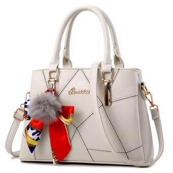 ต้องการขาย กระเป๋าถือ กระเป๋าสะพายพาดลำตัว กระเป๋าแฟชั่นเกาหลี MV-004/สีขาว
