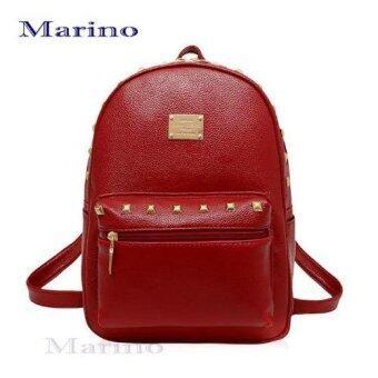 กระเป๋า กระเป๋าสะพาย กระเป๋าเป้สะพายหลัง กระเป๋าเป้สำหรับผู้หญิง รุ่น 0209 - Red