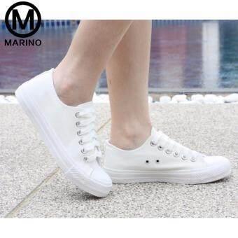 Marino รองเท้านักเรียน รองเท้าผ้าใบนักเรียน รองเท้าผ้าใบผู้หญิง รุ่น A007 - สีขาว (image 4)