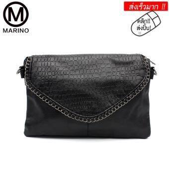 Marino กระเป๋าสะพายข้าง กระเป๋าสะพายพาดลำตัว กระเป๋าถือ No.0264 - Black