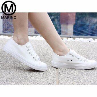 Marino รองเท้าผ้าใบผู้หญิง No.A007 - สีขาว (image 1)