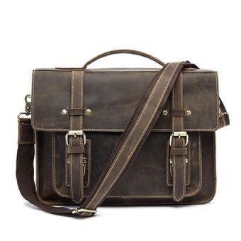 MARRANT Men Bag Crazy Horse Leather Casual Briefcase Portfolio Genuine Leather Man Business Bag Messenger Shoulder Laptop Bags - intl