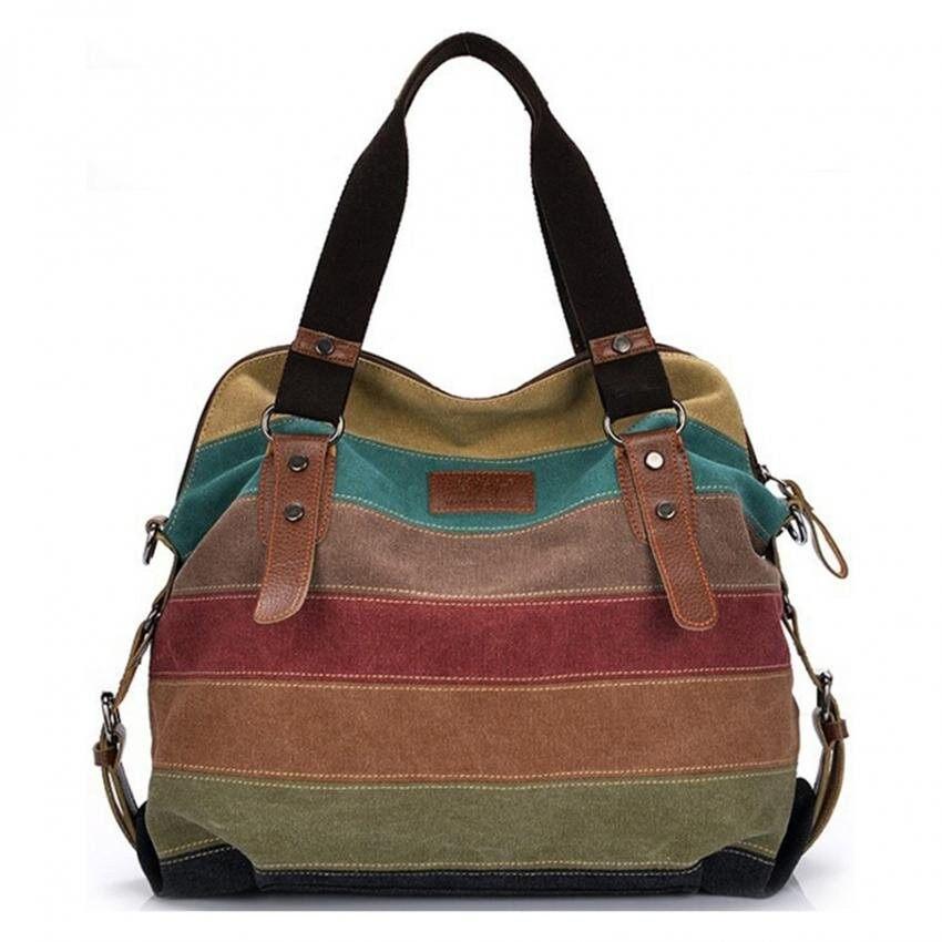 กระเป๋าเป้ นักเรียน ผู้หญิง วัยรุ่น พัทลุง Master FashionBig Size: 37x36x15cm กระเป๋าแฟชั่น กระเป๋า Big Canvas bag Rainbow Fashion Women Bag
