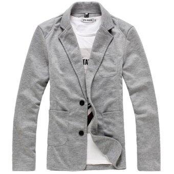 men concept in1366 1488774700 3577343 c33726e3e10eb585657c90b5ad57f890 product ปรับราคา Men Concept เสื้อสูทผู้ชาย ผ้ายืด รุ่น IN1366  สีเทา