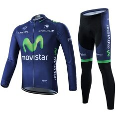 Men Cycling Clothing Long Sleeve Jersey Sets - intl