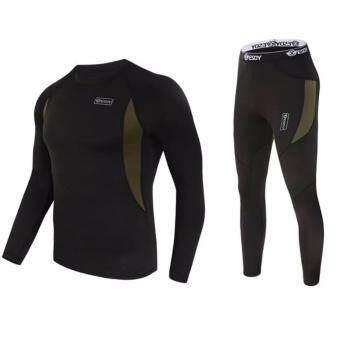 Men Sport Thermal Underwear Set ชุด body suit สำหรับผู้ชาย ใส่ปั่นจักรยาน หรือดำน้ำ Sweater