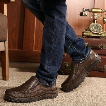 Men's fashion leisure British Genuine Leather shoes - intl - 5