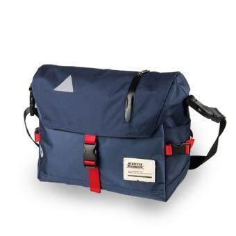 Men's Waterproof Large Capacity Corssbody Bags Shoulder Bag Fitness Bicycle bag Casual Bag Travel Men's Messenger Bags-BlueRed - intl