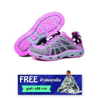 ราคา Merrto Beach Shoes รุ่น 7167 รองเท้ากีฬาสำหรับผู้หญิง ใส่เล่นน้ำ ลงทะเล เล่นน้ำตกได้ (สีชมพู) แถมฟรี ผ้าห่มฉุกเฉิน มูลค่า 490 บาท