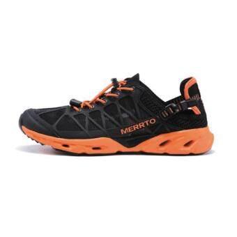 2561 Merrto Beach Shoes รุ่น 7275 รองเท้ากีฬา น้ำหนักเบา ใส่ลงน้ำได้ ระบายอากาศ แห้งเร็ว ไม่มีกลิ่นอับ (สีดำ/ส้ม)