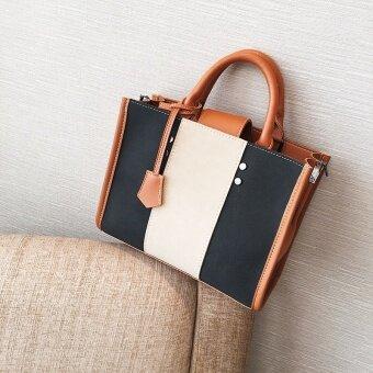 เย็บกระเป๋าไหล่ของ Messenger กระเป๋าถือกระเป๋าถือ (สีน้ำตาล)