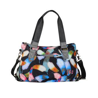 ผ้าใบฤดูใบไม้ผลิและฤดูร้อนใหม่ความจุขนาดใหญ่ไนลอนกระเป๋าถือกระเป๋า messenger ไหล่กระเป๋าถือ (ทรัมเป็ตสีที่อยู่อาศัย)