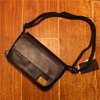 ฮาราจูกุญี่ปุ่นและเกาหลีใต้ผู้ชายกระเป๋าสะพายกระเป๋า Messenger (สีดำ)