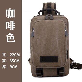 ผู้ชายใหม่ความจุขนาดใหญ่ที่เดินทางมาพักผ่อนถุง messenger ผ้าใบกระเป๋าหน้าอก (PARK'S สี)