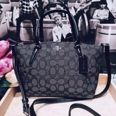 MINI KELSEY SATCHEL IN OUTLINE SIGNATURE COACH