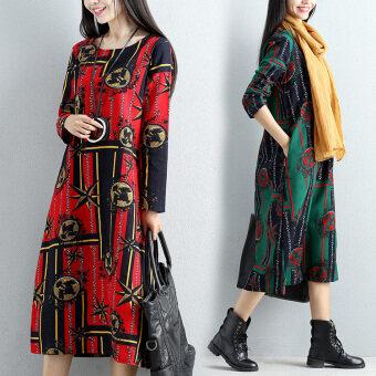 MM ลมชาติฝ้ายฤดูใบไม้ร่วงใหม่ชุด (สีแดง)