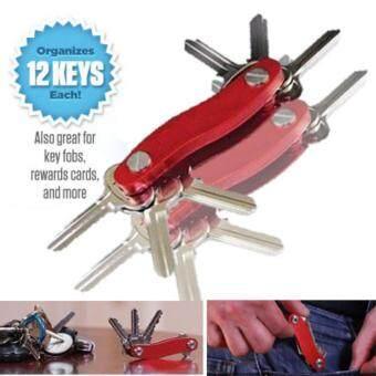 ต้องการขายด่วน MOMMA DIY อุปกรณ์ จัดระเบียบ พวงกุญแจ คีย์การ์ด ทรัมไดร์ บางปลอดภัย สีแดง (D.I.Y. Red Slim Clever Smart Key Holder Ring KeysCards Thumbdrive)