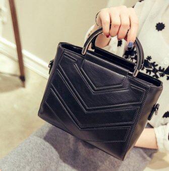 กระเป๋าถือพร้อมสายสะพาย รุ่น Morry (สีดำ)