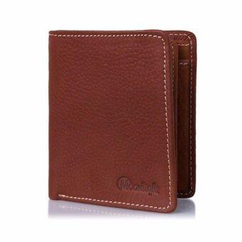 กระเป๋าสตางค์หนังแท้ สำหรับผู้ชาย ทรงตั้ง Moonlight รุ่น Less But More Ep.05 สีแทน ขายโดยตรงจากผู้ผลิต ส่งฟรี พร้อมกล่องเป็นของขวัญได้
