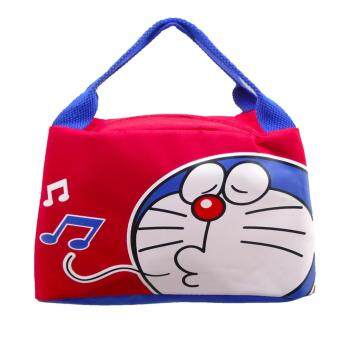 Morning กระเป๋าถือ Doraemon งานลิขสิทธิ์แท้ DRA-002 สีแดง