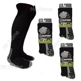 Mr.Home ถุงเท้ากีฬากันลื่น ถุงเท้ากันลื่น แบบยาว (สีดำ) SET 3 คู่