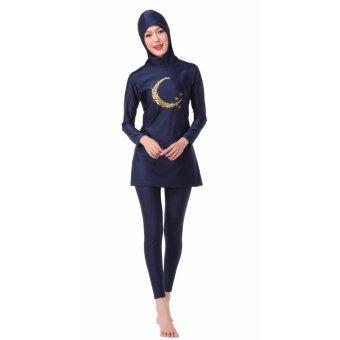 MS ใหม่ชุดว่ายน้ำมุสลิมชุดว่ายน้ำชายหาดชุดว่ายน้ำสีดำ