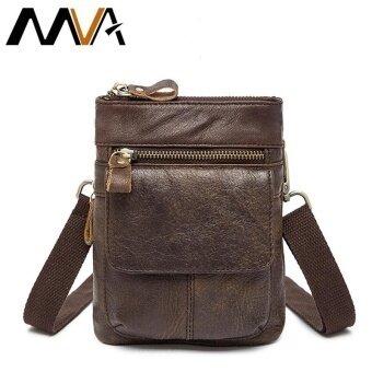 MVA Messenegr Bags Lether Men Shoulder Bags Brand Genuine Leather Men Bag Vintage Crossbody Bag Phone Belt Waist Pack New - intl