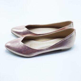 Mymelody รองเท้า ผู้หญิง ส้นเตี้ย หุ้มส้น รุ่น MY0002 (PINK) - 3