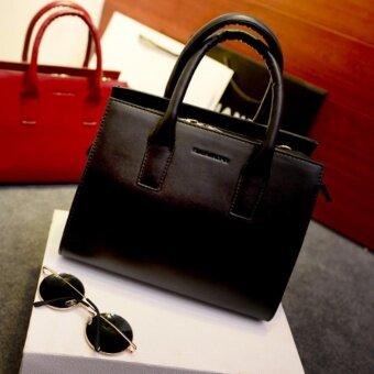 N168 กระเป๋าแฟชั่น พร้อมหมี กระเป๋าสะพายข้าง กระเป๋าถือกระเป๋าสะพาย รุ่น N10026 (สีดำ) ...