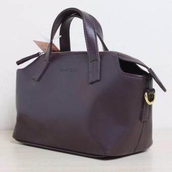 NANA COCO - Solid Brown Duffle Shoulder Bag Handbag - กระเป๋าถือสะพายข้าง สะพายไหล่ สายถอดได้ สีน้ำตาล