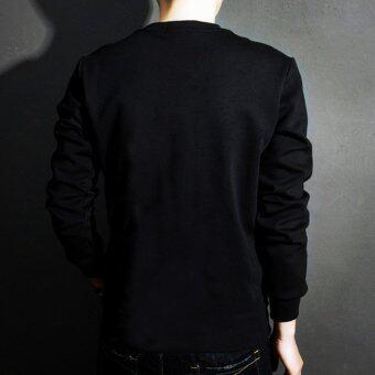 Napha UnisexT-Shirt แขนยาว สีดำ - 2
