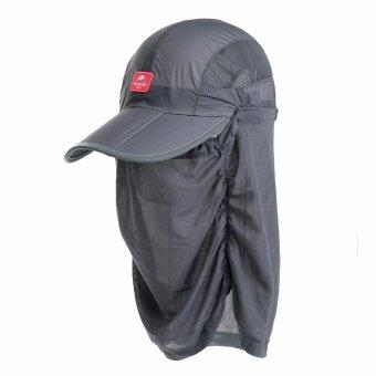 Naturehike Breathable ฤดูร้อนปรับหมวกป้องกันยุง UV ป้องกัน Unisex พร้อมผ้าคลุมหน้า NH12M008-Z