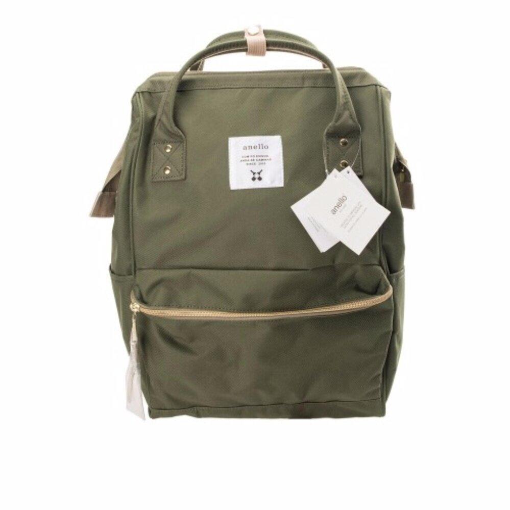 สอนใช้งาน  นครสวรรค์ กระเป๋าเป้ Anello Canvas Unisex Backpack Khaki (Classic Size) - Japan Imported 100%