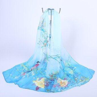 ออกแบบใหม่หรูหราสุภาพสตรีชีฟองยาวผ้าคลุมไหล่ผ้าพันคอ Boutique ANGELO Dual ใช้ครีมกันแดดทรายผ้าพันคอผู้หญิงผ้าคลุมไหล่
