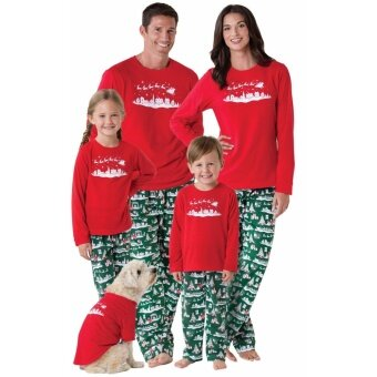 NEW Family Christmas Pajamas Set Women Men Baby Kids Cotton Sleepwear Nightwear (Mum) - intl