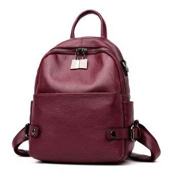 New Fashion Women Backpack PU Leather Backpack Shoulder Bag School Back Bag for Teenager Girls Rucksack Mochila - intl