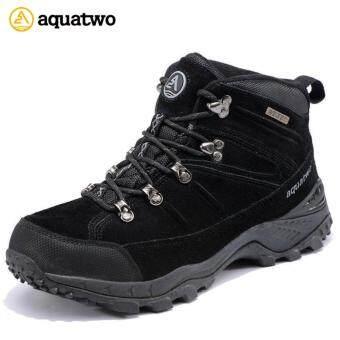 New !! รองเท้า Hiking Trail รองเท้าเดินป่า ปีนเขา ใส่ลุยหิมะได้ กันน้ำ Aquatwo รุ่น 943 (สีดำ)