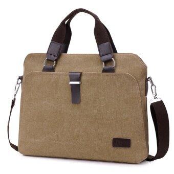New Male Briefcases Big Business Men Messenger Bags Canvas Men's Handbags Travel Cross-Body Bags Men Shoulder Bags Black - intl