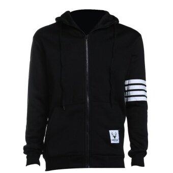 New Sweatshirt Leisure Men Hooded Casual Zipper Autumn Jacket Coat- intl