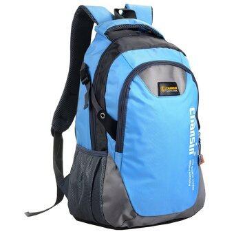 "Nifty Well กระเป๋าเป้สะพายหลัง Backpack Chansin กระเป๋าเดินทาง ผ้าไนลอนน้ำหนักเบา ความจุ 20-35 ลิตร ( สีฟ้าอ่อน )"""