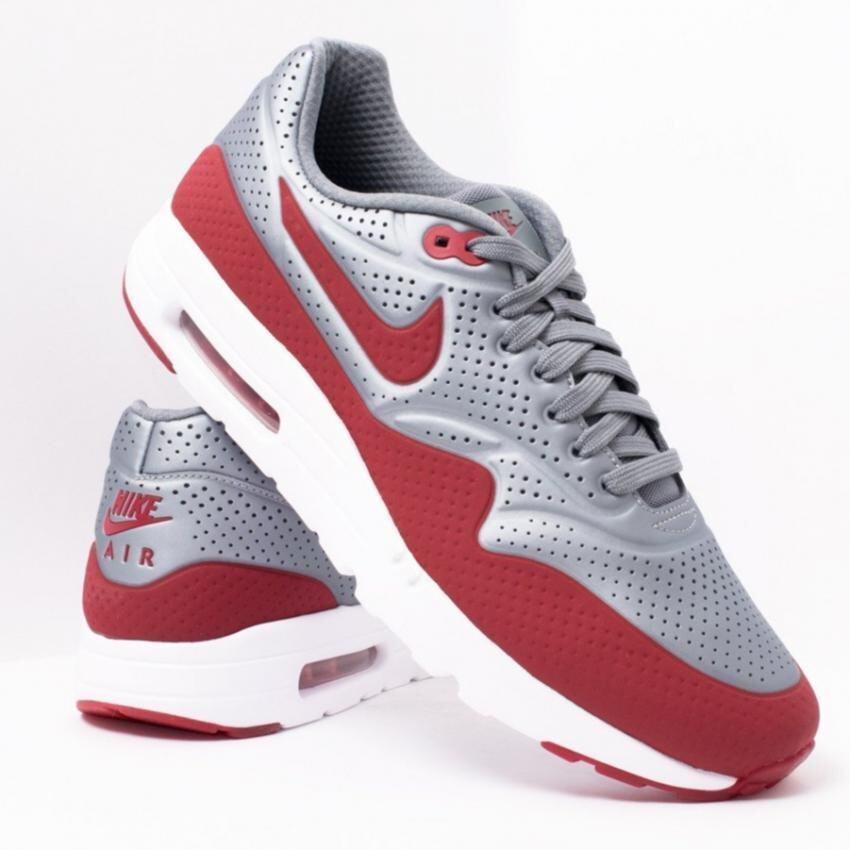 เปรียบเทียบราคา Nike รองเท้า AIR MAX 1 ULTRA MOIRE Metallic Cool Grey/Gym Red-White - 11 US