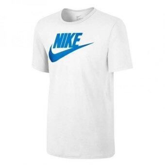 ประเทศไทย Nike เสื้อยืดลำลองผู้ชาย As Nike Tee Futura Icon SKU 696708-102(White/White/Photo)