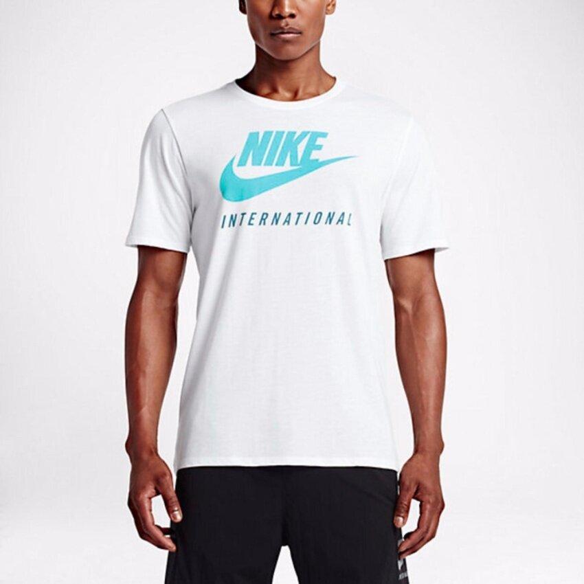 Nike ผู้ชาย Men (โปรดเทียบไซด์เสื้อตามตาราง) เสื้อฟิตเนส เสื้อลำลอง เสื้อวิ่ง เสื้อเที่ยว เสื้อบาส เสื้อใส่สบาย เสื้อบอล เสื้อยืด เสื้อโปโล เสื้อ รุ่น Nike INTERNATIONAL DOT TEE