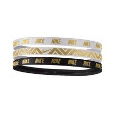 Nike ผ้ารัด ศรีษะ ไนกี้ Metallic Hairbands Assorted 3PK G8912 (790)