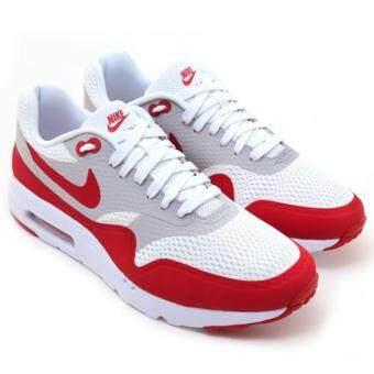 ราคา NIKE รองเท้าลำลอง ฟิตเนส Nike Air Max 1 Ultra Essential White/Neutral Grey/White/Varsity Red